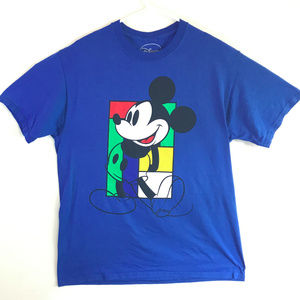 VTG Mickey Mouse Tshirt with 90s Color Blocks